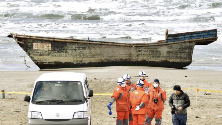 Al-Sahawat Times   Korean ghost ships full of skeletons wash up on beaches in Japan