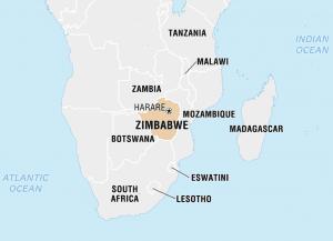 al sahawat times map of zimbabwe