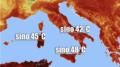 mappa temperatura Sicilia ed Italia 2021 al sahawat times giornale italiano