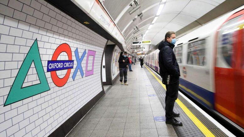 Al-Sahawat Times - London Underground Oxford Circus - playstation 5 launch
